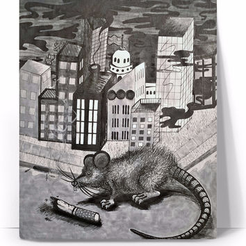 """Drag Rat"" Canvas Print"
