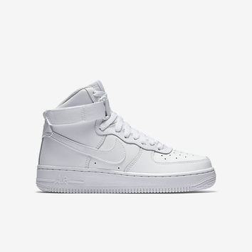 The Nike Air Force 1 High (3.5y-7y) Big Kids' Shoe.