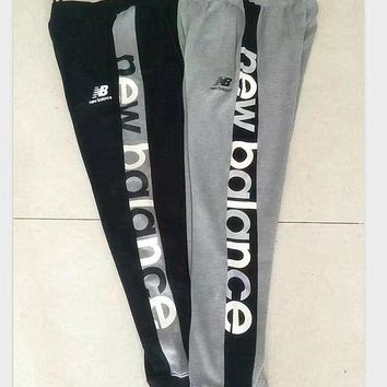 DCCK1IN new balance thick leisure pants men s sport pants hight quality black grey