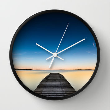 Skinny dipping Wall Clock by HappyMelvin