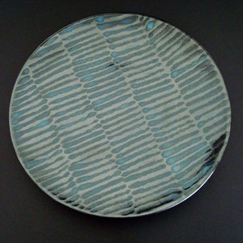 Ceramic platter, handmade, large platter, serving dish, sushi platter, high fired