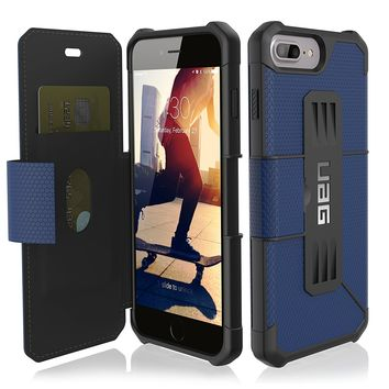 URBAN ARMOR GEAR IPH8/7PLS-E-CB UAG Folio iPhone 8 Plus / iPhone 7 Plus / iPhone 6s Plus [5.5-inch screen] Metropolis Feather-Light Rugged [COBALT] Military Drop Tested iPhone Case