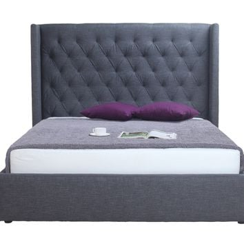 Blair 2-Drawer Bed Queen Grey Fabric