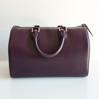 Authentic LOUIS VUITTON Epi Speedy 25 Cassis