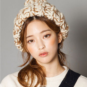 New - Triangle shape wool beanies