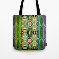 Bread sticks and fantasy flowers in a rainbow Tote Bag by Pepita Selles