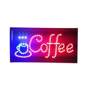 Neon Lights LED Animated Coffee Sign Customers Attractive Sign  Shop Sign 220V