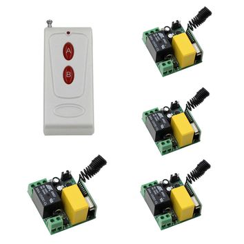 Innovative Products RF Wireless Remote Control AC 220 V 10 A 1 Channel 4 Receiver + 1Transmitter Intelligent Home Appliances