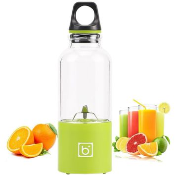 500ML USB Rechargeable Juicer Bottle Citrus Blender Lemon Vegetables Fruit Reamers Bottle