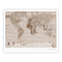 "Catherine Holcombe ""Emerald World"" Vintage Map Fine Art Gallery Print"