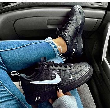 Black NIKE AIR FORCE 1 07 LOW Shoes Sneakers