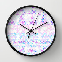 Triangles and triangles Wall Clock by haleyivers | Society6