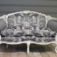 Exquisite Hand Carved French Settee by FoundinFrance on Etsy