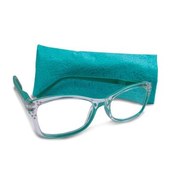 Green 2.75 Magnification Rhinestone Reading Glasses