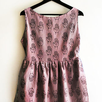 Hand Print Dress [Size XL]
