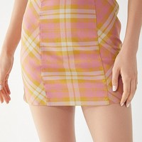 UO Moira Plaid Mini Skirt | Urban Outfitters