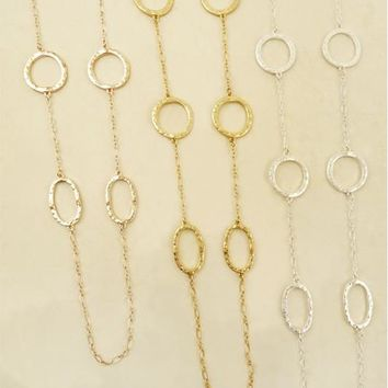 Hammered Hoop Necklace