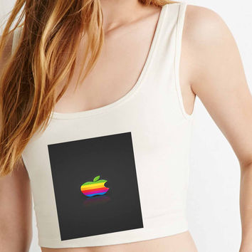 rasta apple  for Crop Tank Girls S, M, L, XL, XXL *AP*