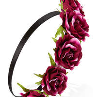 Dark Rose Flower Crown