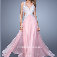 Plunging Sweetheart Neckline La Femme Formal Prom Gown 20692
