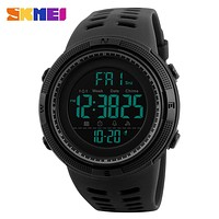 SKMEI Brand Digital Watch Men Sports Watches Countdown Double Time Male Wristwatches Relojes Waterproof Relogio Masculino 1251