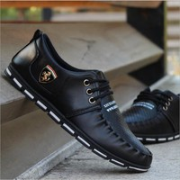 New 2017 Luxury Brand Men Shoes Casual Leisure Shoes Leather Shoes Breathable For Male Footear Loafers Men's Flats
