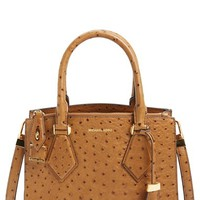 Women's Michael Kors 'Small Casey' Ostrich Embossed Satchel