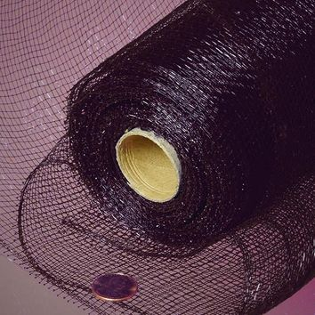 Black Solid 21 inch x 10 yards Deco Mesh Wreath Ribbon Roll
