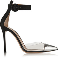 Gianvito Rossi - Leather, PVC and suede pumps