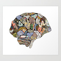 my brain looks different Art Print by Bianca Green