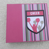 6x6 Cheerleading Scrapbook Photo Album