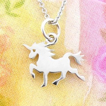 Tiny Magical Mythical Unicorn Necklace