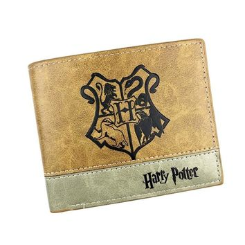 High Quality Harry Potter Ricky And Morty Game of Thrones Patchwork Button Men Anime Wallets Money Cards Holders Boys Gift Bags