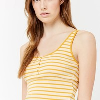 Striped Henley Tank Top