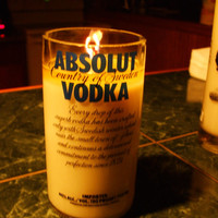 20 Ounce Pure Soy Candle in Reclaimed Absolut Vodka Liquor Bottle - Your Choice of Scent