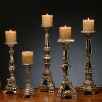 Set of Five Artois Candlestick Holders