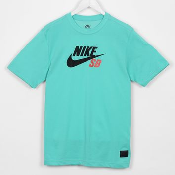 Nike SB Dri-FIT Icon Tee-Shirt, Crystal Mint / Light Crimson