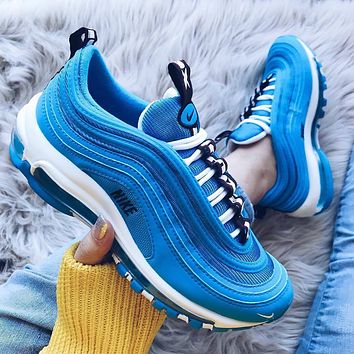 NIKE AIR MAX 97 Air cushion bullet reflective women s sports sho ba36d3de38c2