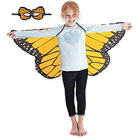 Douglas Toys Dreamy Dress-Ups 50568 Orange Monarch Butterfly Wings and Matching Mask