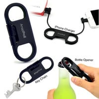 AmaziPro8 iPhone Charge Sync Cable + Bottle Opener + Key Chain + mini Stylus Pen + Antidust Plug + FREE SHIPPING