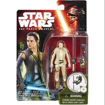 Star Wars Jungle & Space Rey (Resistance Outfit) Action Figure - Walmart.com