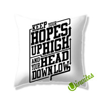 A Day To Remember Quote WHITE Square Pillow Cover