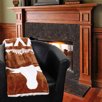 "Texas Longhorns 50"" x 60"" Label Plush Blanket"