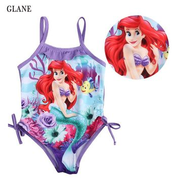 2-6T Girls Swimwear Mermaid Princess One Pieces Swimsuit Kids Swimming Suit For Girl Children Bathing Suit