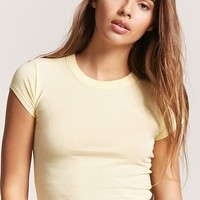 Crew Neck Tee - Women - Tops - Cropped - 2000242806 - Forever 21 Canada English
