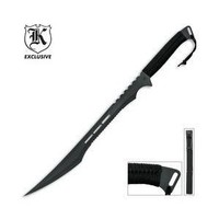 "27"" Full Tang Black Blade Fantasy Ninja Sword w/ Sheath"