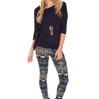 Ursula Leggings - Blue