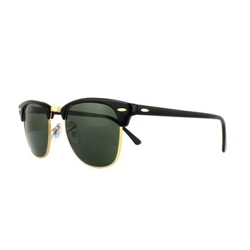 332d27e063 Ray-Ban Sunglasses Clubmaster 3016 W0365 Black Green G-15 Large