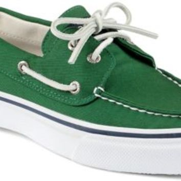 Sperry Top-Sider Bahama Varsity 2-Eye Boat Shoe Green, Size 8M  Men's