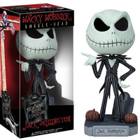 FUNKO The Nightmare Before Christmas Jack Wacky Wobbler Bobble Head PVC Action Figure Collection Toy Doll hwd